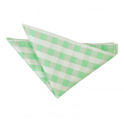 Mint Green Gingham Check Handkerchief / Pocket Square