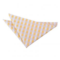 Sunflower Gold Gingham Check Handkerchief / Pocket Square