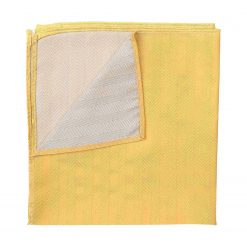 Primrose Yellow Herringbone Silk Pocket Square
