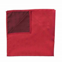 Red Herringbone Silk Handkerchief / Pocket Square