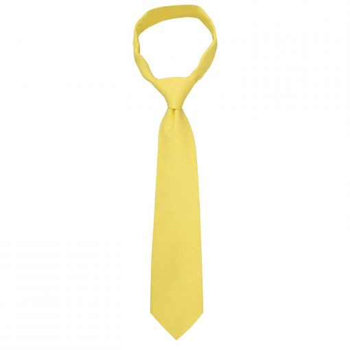 Daffodil Yellow Hopsack Linen Classic Tie