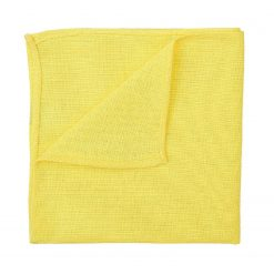 Daffodil Yellow Hopsack Linen Handkerchief / Pocket Square