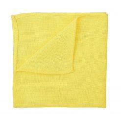 Daffodil Yellow Hopsack Linen Pocket Square