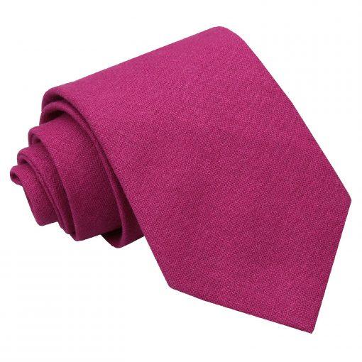 Dark Fuchsia Hopsack Linen Classic Tie