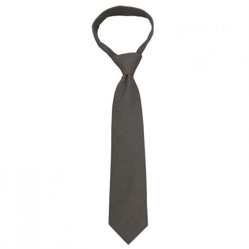 Dark Olive Hopsack Linen Classic Tie