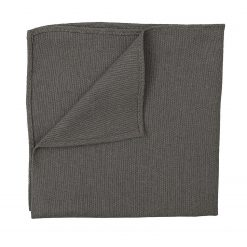Dark Olive Hopsack Linen Handkerchief / Pocket Square