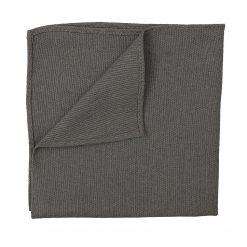 Dark Olive Hopsack Linen Pocket Square