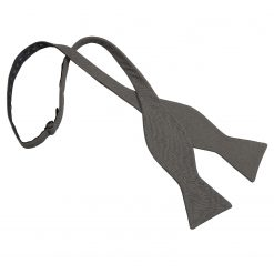 Dark Olive Hopsack Linen Thistle Self Tie Bow Tie
