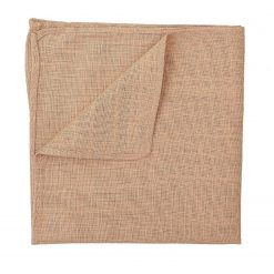 Gold Hopsack Linen Handkerchief / Pocket Square