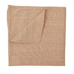 Gold Hopsack Linen Pocket Square