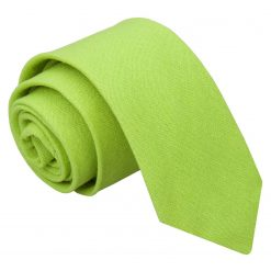 Lime Green Hopsack Linen Slim Tie
