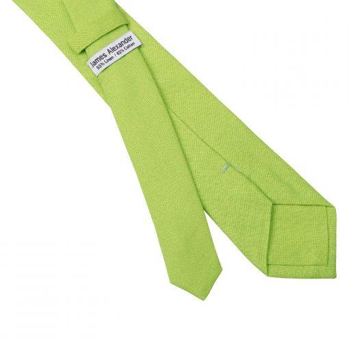 Lime Green Hopsack Linen Slim Tie