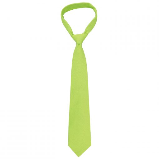 Lime Green Hopsack Linen Classic Tie
