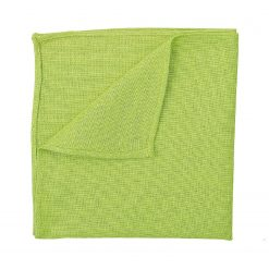 Lime Green Hopsack Linen Handkerchief / Pocket Square