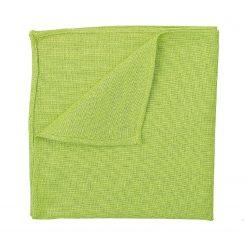 Lime Green Hopsack Linen Pocket Square