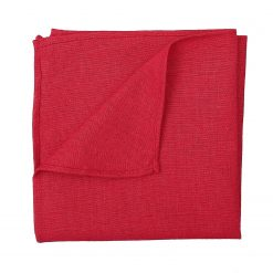 Red Hopsack Linen Handkerchief / Pocket Square