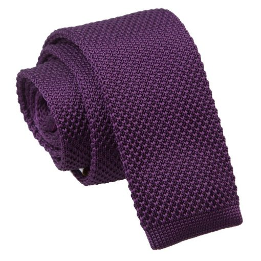 Cadbury Purple Knitted Skinny Tie