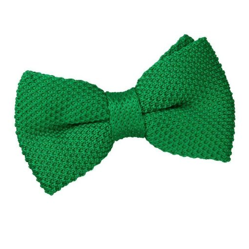 Forest Green Knit Knitted Pre-Tied Bow Tie