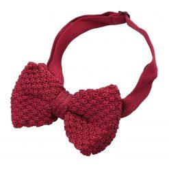 Burgundy Grenadine Knitted Silk Pre-Tied Bow Tie
