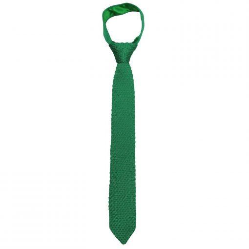 Emerald Green Grenadine Knitted Silk Slim Tie