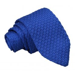 Royal Blue Grenadine Knitted Silk Slim Tie