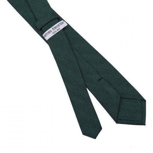 Bottle Green Ottoman Wool Slim Tie
