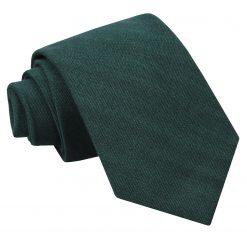 Bottle Green Ottoman Wool Classic Tie