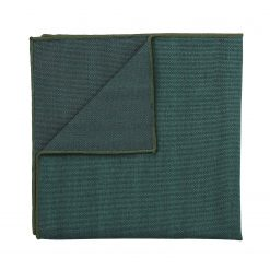 Bottle Green Ottoman Wool Handkerchief / Pocket Square