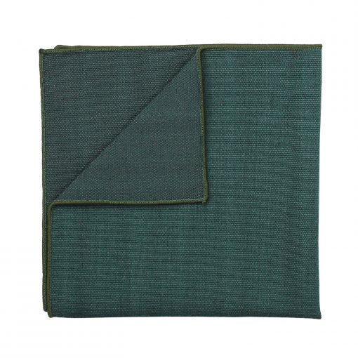 Bottle Green Ottoman Wool Pocket Square