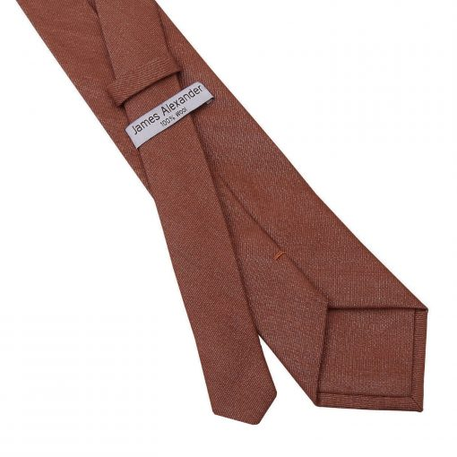 Brown Ottoman Wool Classic Tie