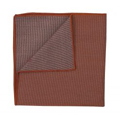 Brown Ottoman Wool Handkerchief / Pocket Square