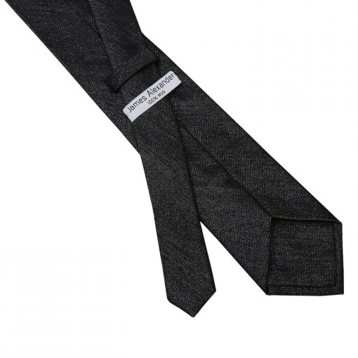 Charcoal Grey Ottoman Wool Classic Tie