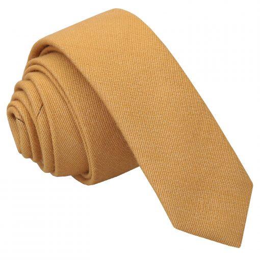 Honey Gold Ottoman Wool Skinny Tie