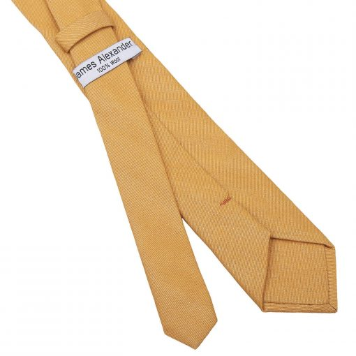 Honey Gold Ottoman Wool Slim Tie