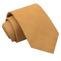 Honey Gold Ottoman Wool Classic Tie