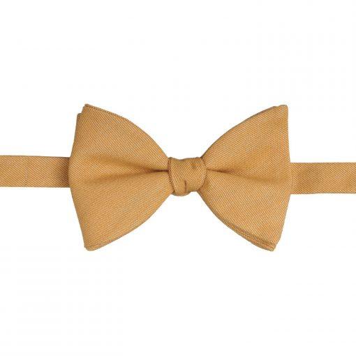 Honey Gold Ottoman Wool Butterfly Self Tie Bow Tie