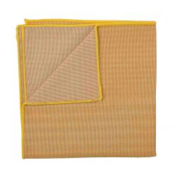Honey Gold Ottoman Wool Pocket Square