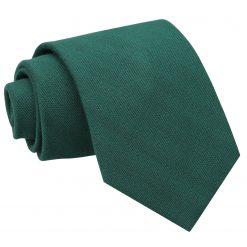 Hunter Green Ottoman Wool Classic Tie