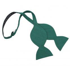 Hunter Green Ottoman Wool Butterfly Self Tie Bow Tie