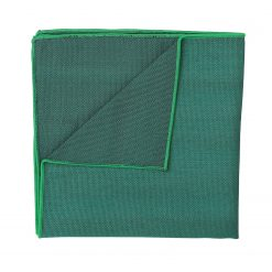 Hunter Green Ottoman Wool Handkerchief / Pocket Square