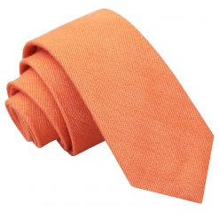 Light Orange Ottoman Wool Slim Tie