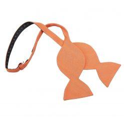 Light Orange Ottoman Wool Butterfly Self Tie Bow Tie
