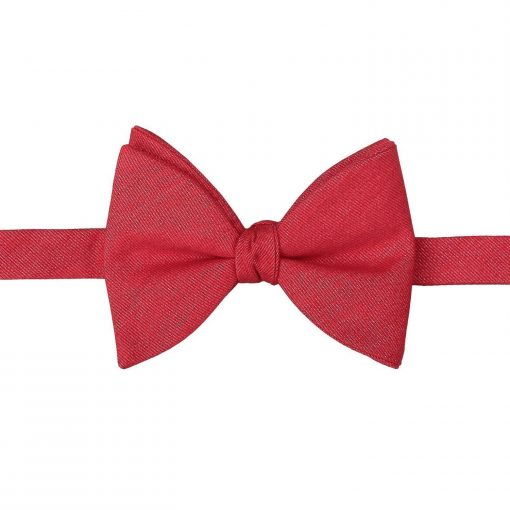 Watermelon Red Ottoman Wool Butterfly Self Tie Bow Tie