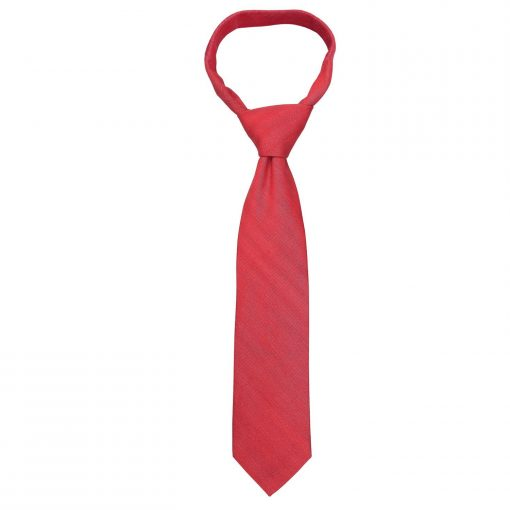 Watermelon Red Ottoman Wool Classic Tie