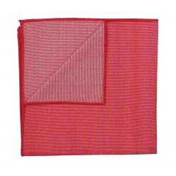 Watermelon Red Ottoman Wool Handkerchief / Pocket Square