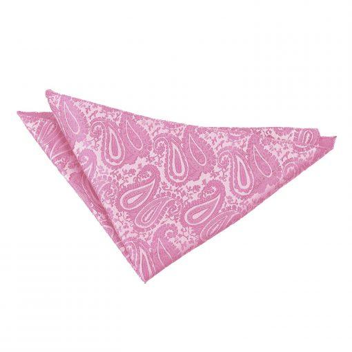 Baby Pink Paisley Handkerchief / Pocket Square