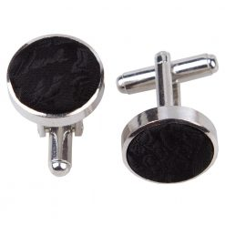 Black Paisley Cufflinks