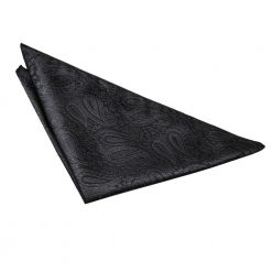 Black Paisley Handkerchief / Pocket Square