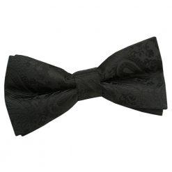 Black Paisley Pre-Tied Bow Tie