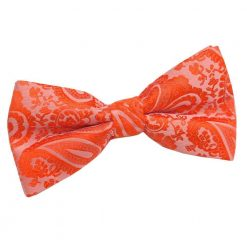Burnt Orange Paisley Pre-Tied Bow Tie
